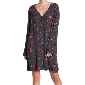 NWT Madewell floral button front easy dress